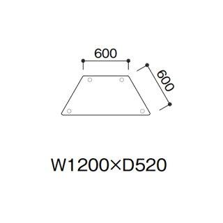 学校用テーブル図書展示テーブル台形ER-1252DL