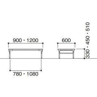 ★新品★折りたたみテーブル省スペース公共施設EW-0960L