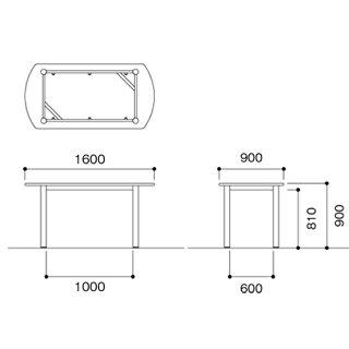 ★新品★ナーステーブル1690シンプルデスク病院NMSF-1690