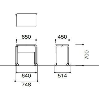 ★新品★学習机キャスター脚スタッキング机NSTA-FP6545C