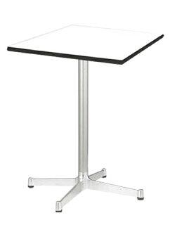 ★新品★ラウンジテーブル十字脚正方形天板アルミフレーム机