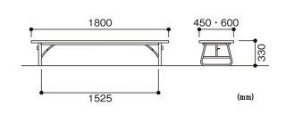 折り畳み座卓ZU-1860T店舗飲食休憩室幼稚園