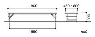 折り畳み座卓ZK-1860Tミーティング宴会つくえ