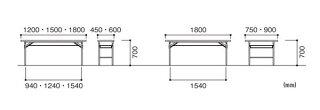 折り畳み会議テーブルKT-1545Sシンプル目玉商品