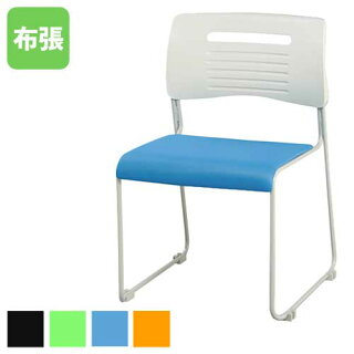 スタッキングチェア布張り積み重ねOK4色展開ブラックライムオレンジブルーミーティングチェア会議椅子オフィス家具人気53%OFFPMC-430