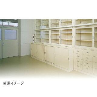 ガラス引戸書庫BER-G18(N)2列3段書棚A4ファイル