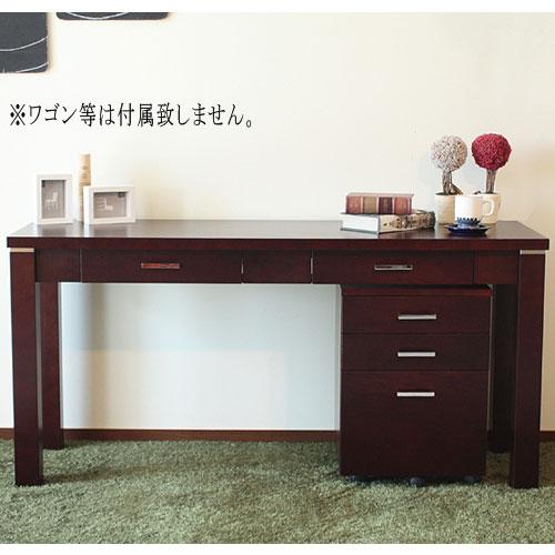 デスク CHOCOLAT 150 150cm 事務机 書斎机 収納 LOOKIT オフィス家具 インテリア