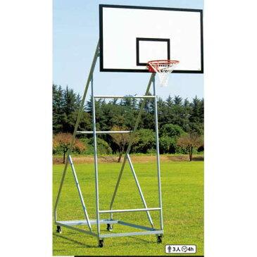 バスケットゴール 2台セット 一般用 屋外 移動式 キャスター付き 安全配慮 バスケットボール バスケ ゴール 運動用品 体育用品 校庭 スポーツ施設 S-9364