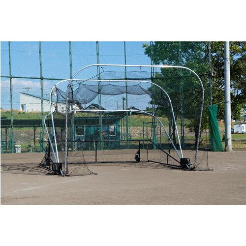 バッティングケージ スチール製 移動式 防球ネット バッティングネット 野球 ソフトボール グラウンド設備 練習道具 部活動 学校 スポーツ施設 S-4990