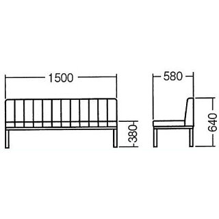 ★48%OFF★長椅子背付き3人掛けビニールレザー張りロビーソファソファイスベンチチェアロングホテル待合室休憩所シンプル48-MC-150ANE