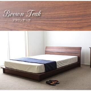 ローベッドダブルステージベッドロータイプベッドフレームのみヘッドボード低床ベッドすのこ桐簡単組立国産ベッドGMB127-D