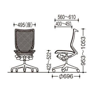 ★送料無料★バロンチェアオカムラオフィスチェア岡村製作所ハイバックメッシュキャスター付きパソコンチェア椅子デスクチェアシンプルCP35CW