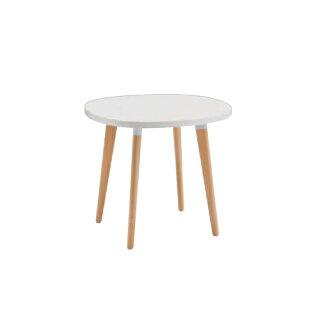 ミーティングテーブル変形丸型幅70.5×奥行71×高さ60cm送料無料ホワイト天板タイプカフェ店舗オフィステーブル作業テーブルL103SM-MM86
