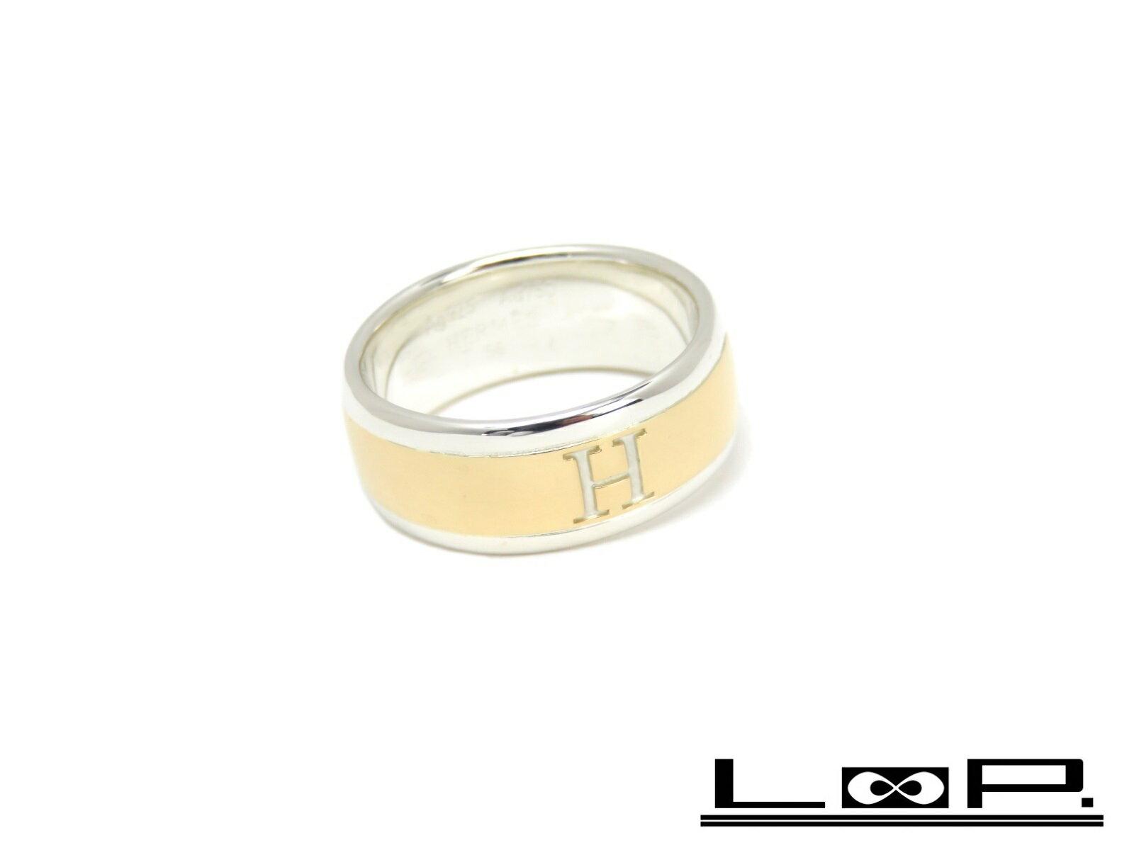 レディースジュエリー・アクセサリー, 指輪・リング  HERMES H K18 YG 750 SV 925 56 A32631