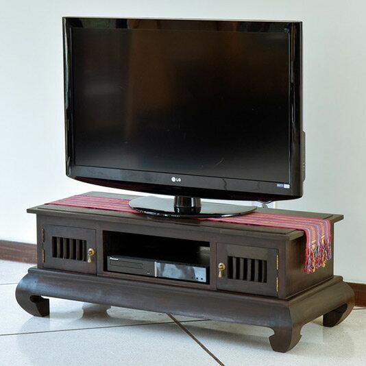 高級感あふれるチーク材テレビボード