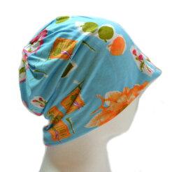 ナイトキャップ ルームキャップ 室内帽子 日本製 コットン帽 メンズ レディース 紳士 婦人 男 女 室内 部屋 ルーム 室内用 帽子 高級コットン生地100% 柔らか素材 花 フラワー おしゃれ ねぐせ 寝癖