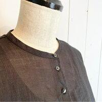 カルドファブリカラミーカットワーク刺繍七分袖ブラウス