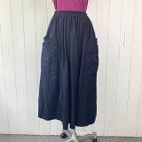 homspunダブルポケットギャザースカート