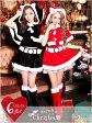 【あす楽】 サンタ コスプレ サンタ 衣装 [M/Lサイズ][6点セット]ネコ耳ポンチョ&ミニスカートセット[dazzyサンタ2016] サンタコス サンタクロース クリスマス コスチューム パーティー衣装[トップス スカート 帽子 ポンチョ レッグウォーマー]
