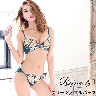 【dazzystore】カサブランカノーブル刺繍 ブラジャーショーツセット