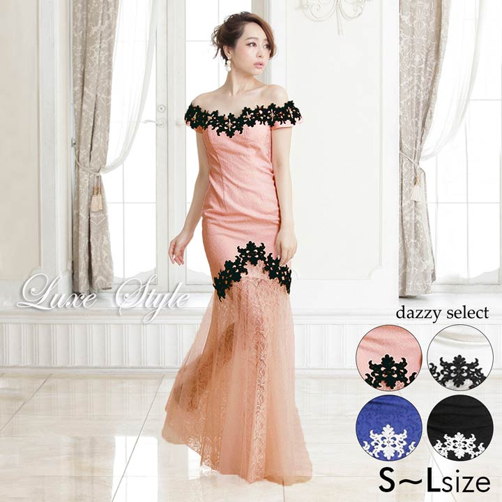 108cd7e0d085f ... 送料無料 ドレス キャバ 大きいサイズ キャバ ドレス ロング  LuxeStyle