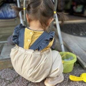 【BabyRito】数量限定販売!なくなり次第終了!!砂場着 プレイウェア お砂場着 公園着 撥水 雨 水遊び ロング丈かぼちゃパンツ ベージュ かわいい 女の子服 おしゃれ ベビー服 レインウェア レインコート 砂遊び 80〜90cm