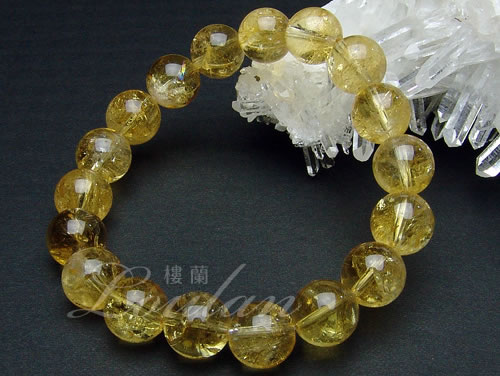 シトリン(黄水晶)10mmAAA天然石 パワーストーン ブレスレット ブレ...