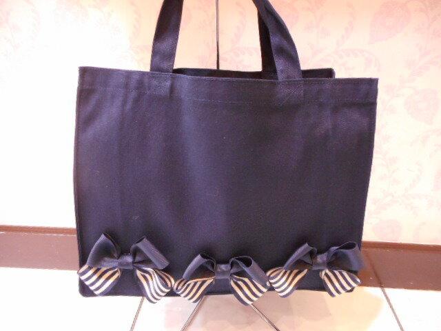 產品詳細資料,日本Yahoo代標|日本代購|日本批發-ibuy99|包包、服飾|包|女士包|手提袋|リボン エコバッグ トートバッグ ネイビー紺 スクエア お受験 お稽古 サブバッグ リボンバッグ …