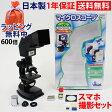 顕微鏡 自由研究 学習 プロジェクター マイクロスコープ 600倍 300倍 100倍 生物顕微鏡 日本製 8歳以上 プレパラート付