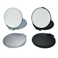 【5と0のつく日クーポン配布中】コンパクトミラー 拡大鏡 メイク [拡大ミラー] ナピュアミラー [鏡] リアルズームアップ プラス 両面 5倍 RC-05 折りたたみ 老眼 堀内鏡工業