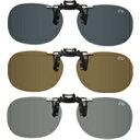ルーペスタジオで買える「偏光サングラス クリップサングラス BV-27 エロイコ 偏光グラス ゴルフ UV カット 跳ね上げ メガネの上からサングラス」の画像です。価格は1,844円になります。