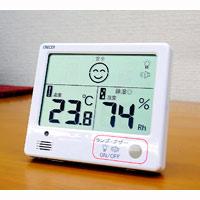 デジタル温湿度計 熱中症・インフルエンザ警報付き 白 CR-1200 東京磁石