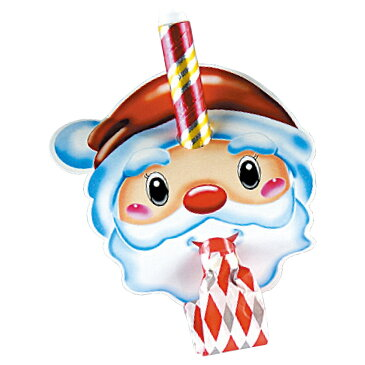 【最大5000円OFFクーポン配布中】サンタ お面巻取笛 ランダムカラー 仮面 子供 サンタクロース コスプレ クリスマス プレゼント ギフトパーティ