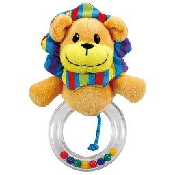 ぬいぐるみラトル 赤ちゃん にぎにぎ ライオン らいおん ベビー用品 新生児 1歳 1歳半 2歳 おしゃれ 幼児 出産祝い プレゼント 遊び 室内 おもちゃ 音が鳴る