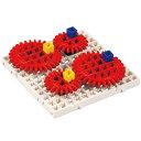 アーテックブロック部品 アーテックブロック ブロック かいてんギヤセット 歯車 日本製 知育玩具 おもちゃ 動力伝達 学習 運動のしくみ 理科 レゴ・レゴブロックのように遊べます パーツ 室内 クリスマスプレゼント