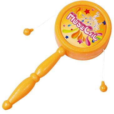 ポンポン たいこ でんでん太鼓 おもちゃ ベビー 子供 キッズ 遊び 鳴り物 運動会 表彰 景品 子供会 プレゼント イベント 景品 2歳 男の子 女の子