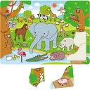 【お買い物マラソン クーポン配布中】どうぶつ パズル 20ピース 幼児 ゲーム おもちゃ 動物 知育玩具 3歳