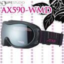 ゴーグル スキー スノーボード レディース AX590-WMD 曇り止め機能付き 眼鏡対応 メガネ対応 女性用 ダブルレンズ AXE アックス