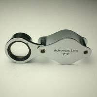 虫眼鏡 メタルホルダールーペ 7090 20倍 15mm 池田レンズ あす楽 【HLS_DU】【RCP】