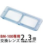 双眼 ヘッドルーペ 交換レンズ BM-100B1 2.3倍 BM-100専用 池田レンズ