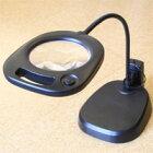 虫眼鏡 卓上 拡大鏡 スタンド ルーペ 大型レンズ スタンドルーペ LEDライト付 CMS130 2倍 130mm 製品検査 検品に便利な拡大鏡 ルーペ スタンド 池田レンズ