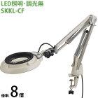 LED照明拡大鏡 コンパクトフリーアーム・クランプ取付式 調光無 SKKLシリーズ SKKL-CF型 8倍 SKKL-CFX8 オーツカ光学