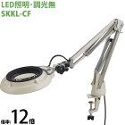 LED照明拡大鏡 コンパクトフリーアーム・クランプ取付式 調光無 SKKLシリーズ SKKL-CF型 12倍 SKKL-CFX12 オーツカ光学