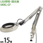 LED照明拡大鏡 コンパクトフリーアーム・クランプ取付式 調光無 SKKLシリーズ SKKL-CF型 15倍 SKKL-CFX15 オーツカ光学