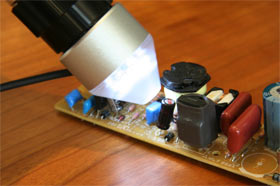 マイクロスコープ ポケット LEDライト付き 30−50倍 スコーピオン SCORPION-I