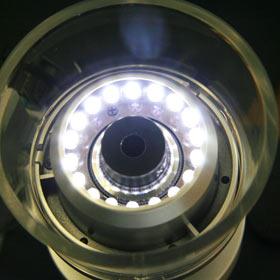 マイクロスコープ ポケット LEDライト付き 100倍 正立像タイプ 【※LED照明用の電源(別売)が必要です】