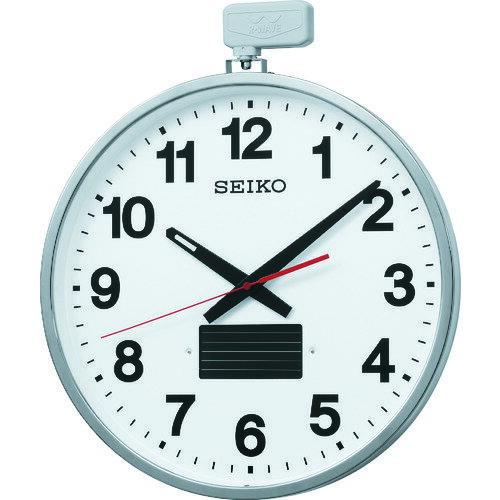 SEIKO ソーラー屋外用大型電波掛時計 527×450×78 金属枠 [SF211S]  SF211S 販売単位:1 :ルーペスタジオ