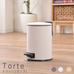 Torte(トルテ) トラッシュカン3L ゴミ箱 ごみ箱 くず入れ ダストボックス トラッシュカン 蓋