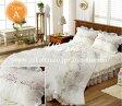 【送料無料】【売り切れ次第販売終了】ルノワール ・クィーン |ウェディングドレス のような デザイン 寝具セット|全サイズオーダー可能|布団丸洗い|ピンク|かわいい|新居|子供部屋|新婚【高級寝具】
