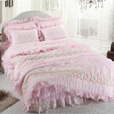 ノーブレス B ダブル 4点セット|ウェディングドレスのようなデザイン寝具セット|全サイズオーダー可能|布団丸洗い|ピンク|かわいい|新居|子供部屋|新婚【高級寝具】:Noa noa